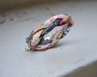 Braided Liberty Cord Bracelet, Fabric Bracelet