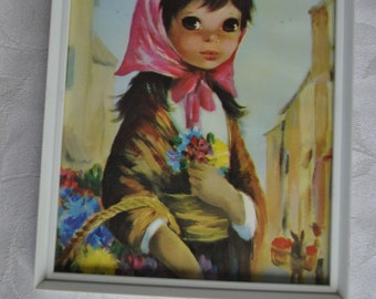 Flower seller picture 1960s  Nursery decor Child's room decor