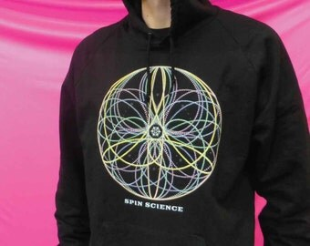 Flower Mandala - 100% California Fleece Cotton Hoodie - Made in USA