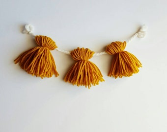 1ft yarn tassel garland