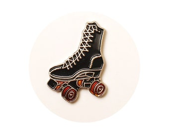 Rollerskate Vintage Enamel Lapel Pin