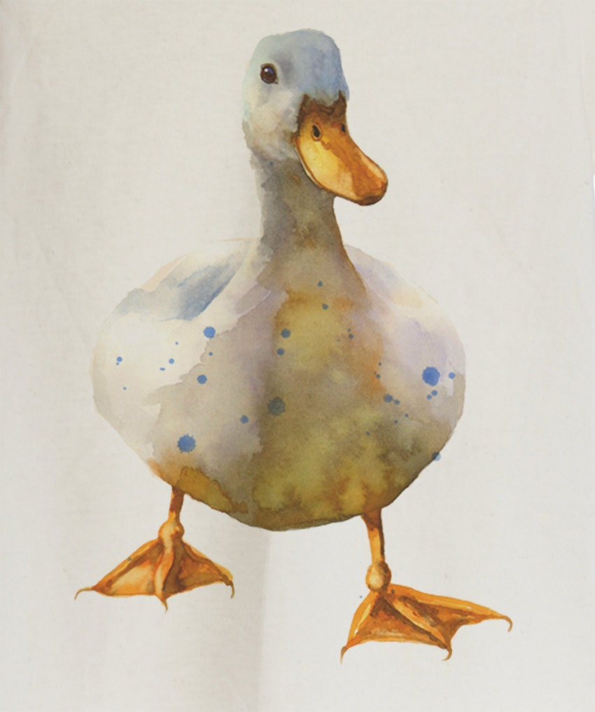 water color duck organic t shirt for kids e10190947033226819m