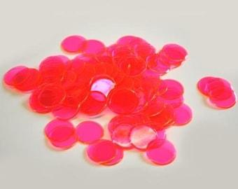 100 Plastic Bingo Chips, Pink
