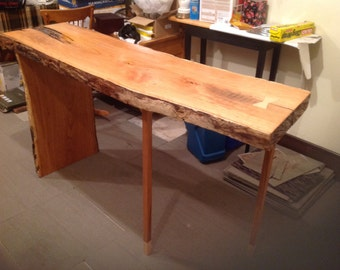 Solid Cherry Slab Table