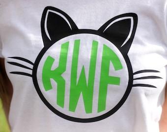 Custom Monogram Cat Shirts