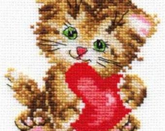 Cross Stitch Kit Cat