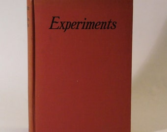 Experiments Norman Douglas 1st Edition Hard Cover 1925