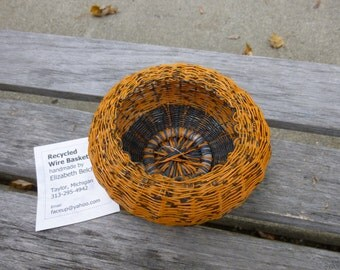 Orange and Black Telephone Wire Basket