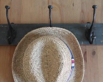 Vintage Triple Coat Hooks/Hall Hooks/ Coat Hanger/Vintage Coat Hooks/SALE
