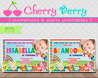 BABY FIRST TV Invitation Digital File - Printable - Boy or Girl