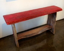 Handcrafted Narrow Wooden Bench