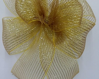 Gold Mesh Bow
