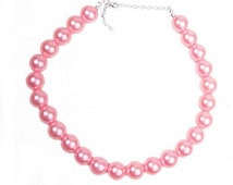 Pink Pearl Chunky Bubblegum Bead Necklace Easter Birthday Photo Shoot  Accessories