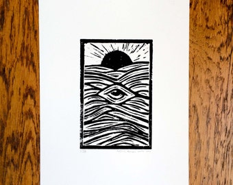Sea Eye Linoprint