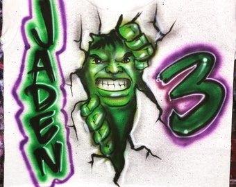 Incredible HULK airbrush shirt