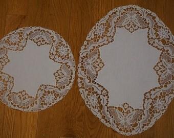Vintage Lace Doily Set (2 pieces)