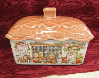 "Vintage Sadler Butter Dish ""the Dairy Shop"""