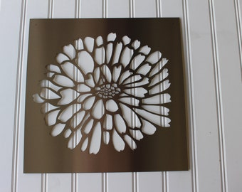 Metal Sign: Dahlia Flower
