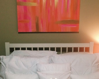 Abstract Brushstroke Canvas