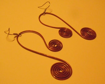 handmade earrings with copper wire