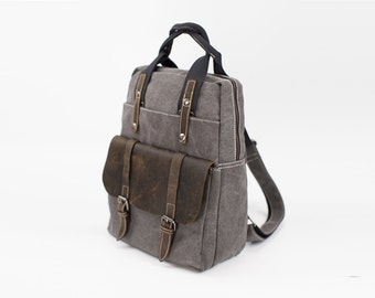 Canvas Backpack Etsy