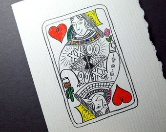 Valentine Card - The Hearty Queen XOXO