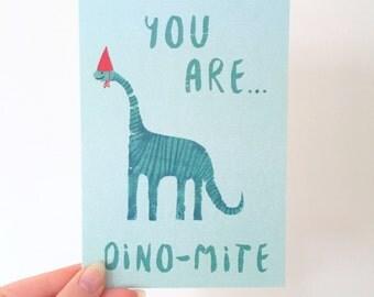 Dino-mite card