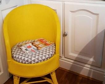 Bright & Bold Lloyd Loom style tub chair