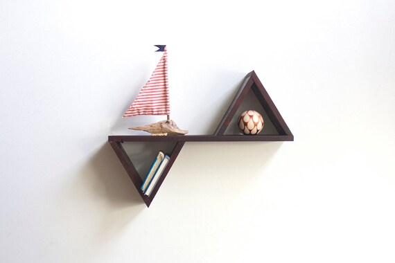 Geometric Shelf Geometric Shelves Triangle Shelf Triangle