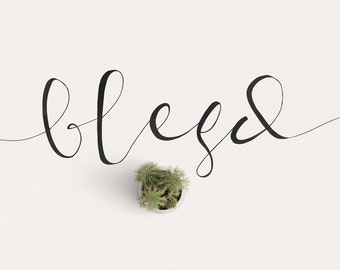 Blesd Modern Calligraphy Font Download