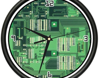 Computer Circuit Board Wall Clock Geek Hardware Gift