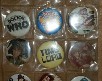 Dr. Who pinback buttons