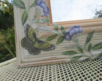 Decoupaged Mirror - Butterflies and Birds
