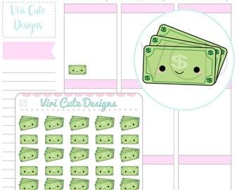 Kawaii Money Planner Stickers, Money stickers, finance stickers, pay day stickers, stickers, kawaii stickers, kawaii planner stickers | 029
