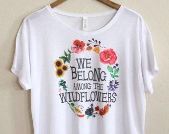 Boho Graphic Tee, Music Festival Clothing, Floral Graphic Tee, Cropped Top, Boho Top, Boho T-Shirt, Hipster Graphic Tee, Hippie T-Shirt