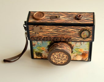 Mini Photo Album custom-shaped camera - Camera Mini Album Scrapbook