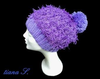 Beanie, lilac, one size