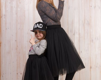 AIRSKIRT Black colour Familly Look