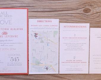 Fall wedding invitations, red wedding invitation, fall wedding invitation, fall invitation, red wedding invitations, red invitation, custom
