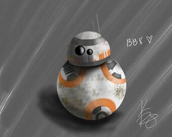 "BB-8 8x10"" Print"