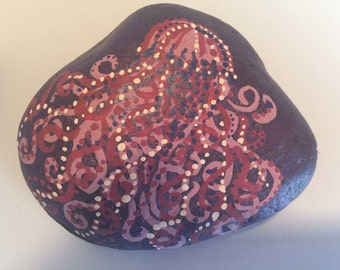 Hand Painted Jellyfish River Rock