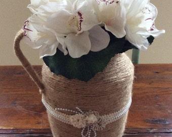 Vintage style flower pitcher
