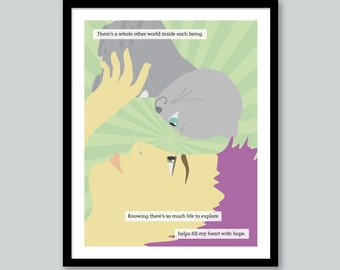 Cat Quote Print: Other Worlds
