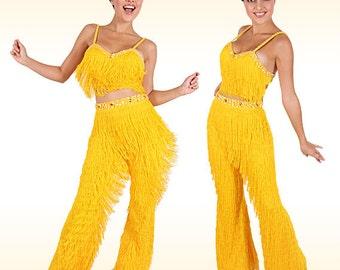 Fringe Pants Costume - Latin Salsa, Latin Fringe Pants, Latin Dance Costume, Salsa Dance Costume, Salsa Fringe Costume