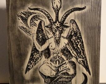 Baphomet Carving - Eliphas Levi Satanism Satanic Occult Mystical Sabbatic Goat
