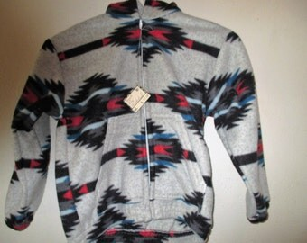 Size 8 Gray Thunderbird Fleece Jacket