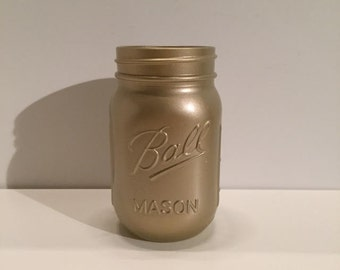 Brushed Champagne Mason Jar