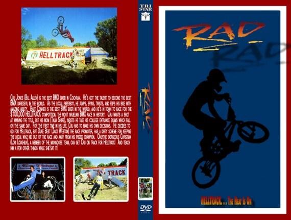 RAD dvd 1986 very rare bmx racing bill allen