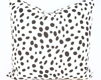 Dalmatian Spot Pillow Cover in Graphic Black & White