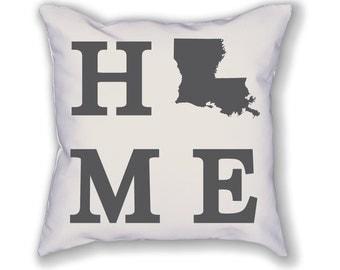 Louisiana Home State Pillow